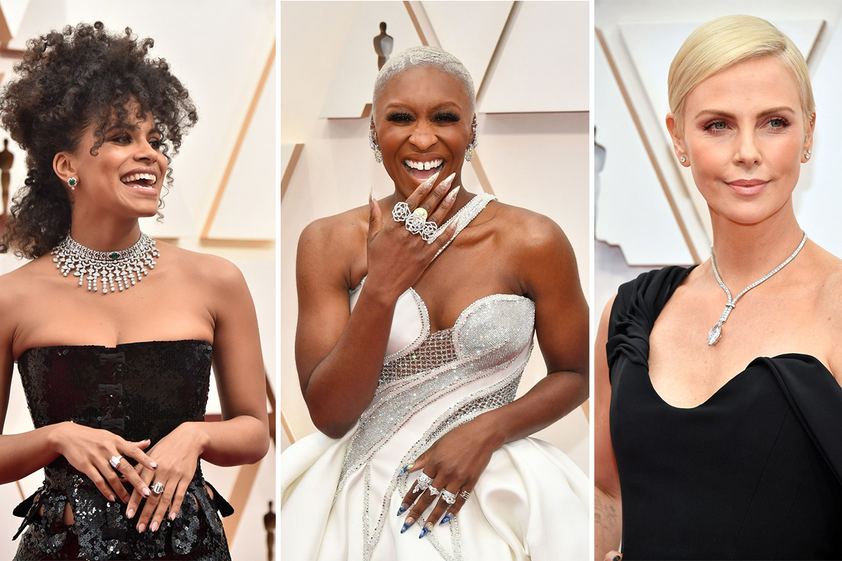 A triumph of gold and diamonds at Oscar night 2020