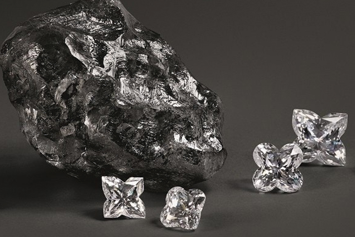 Louis Vuitton and the second largest rough diamond in the world