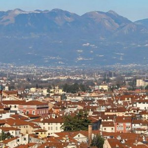 Vicenza among ancient buildings and city streets